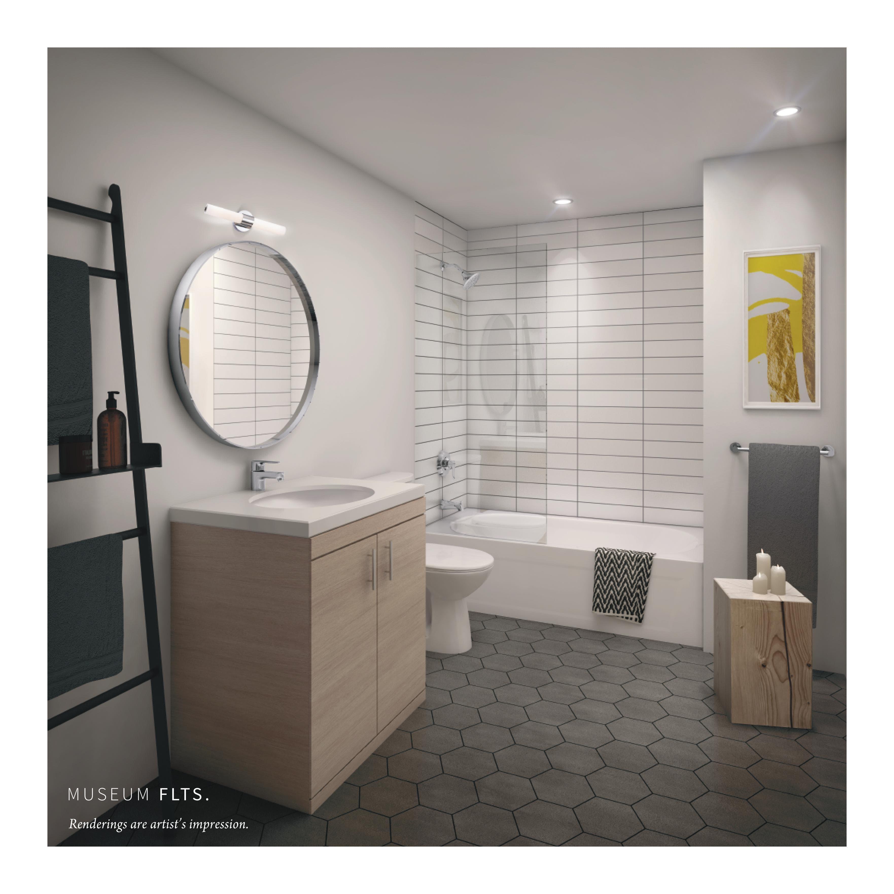 Museum FLTS Condos Bathroom Toronto, Canada