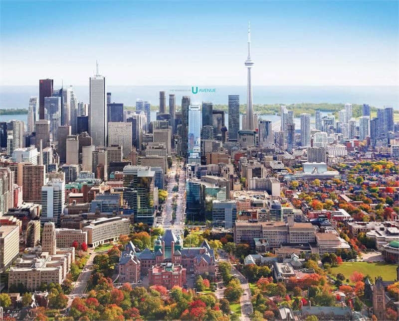 488 University Condos Aerial View Toronto, Canada