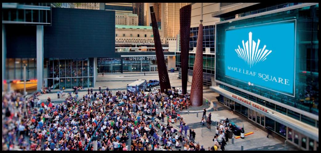 Maple Leaf Square Condos Front View Toronto, Canada