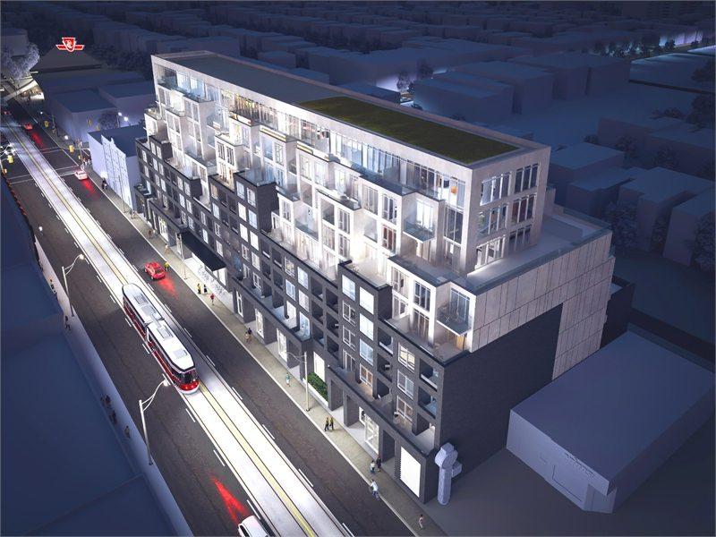 B Streets Condos Aerial View Toronto, Canada