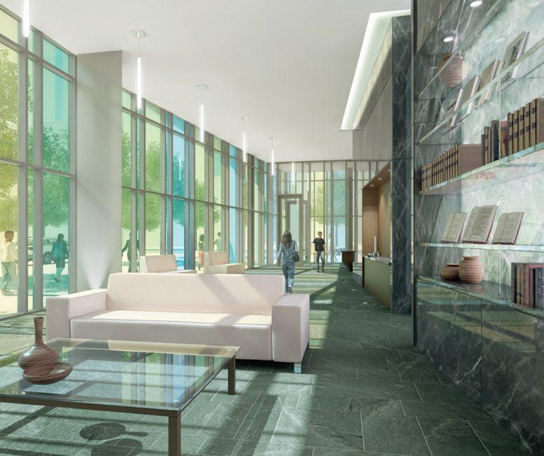 Library District Condos Lobby Toronto, Canada