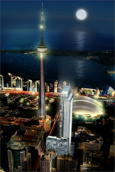 300 Front Condos Night View Toronto, Canada