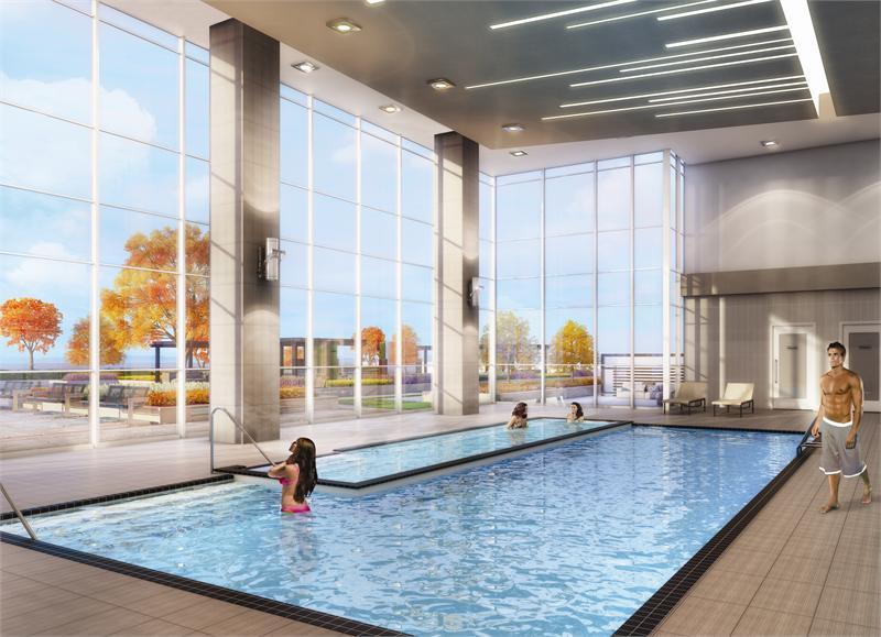 Paradigm Condos Swimming Pool Toronto, Canada