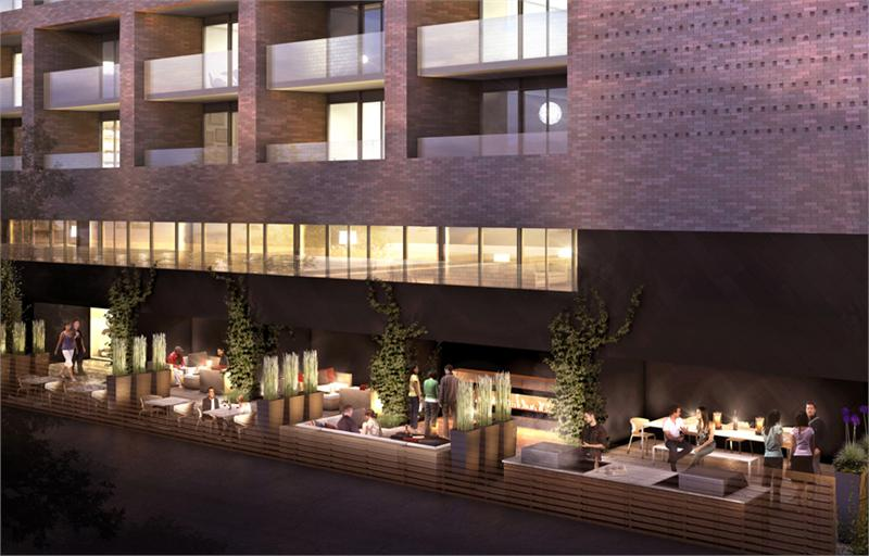 383 Sorauren Condos Terrace Lounge Toronto, Canada