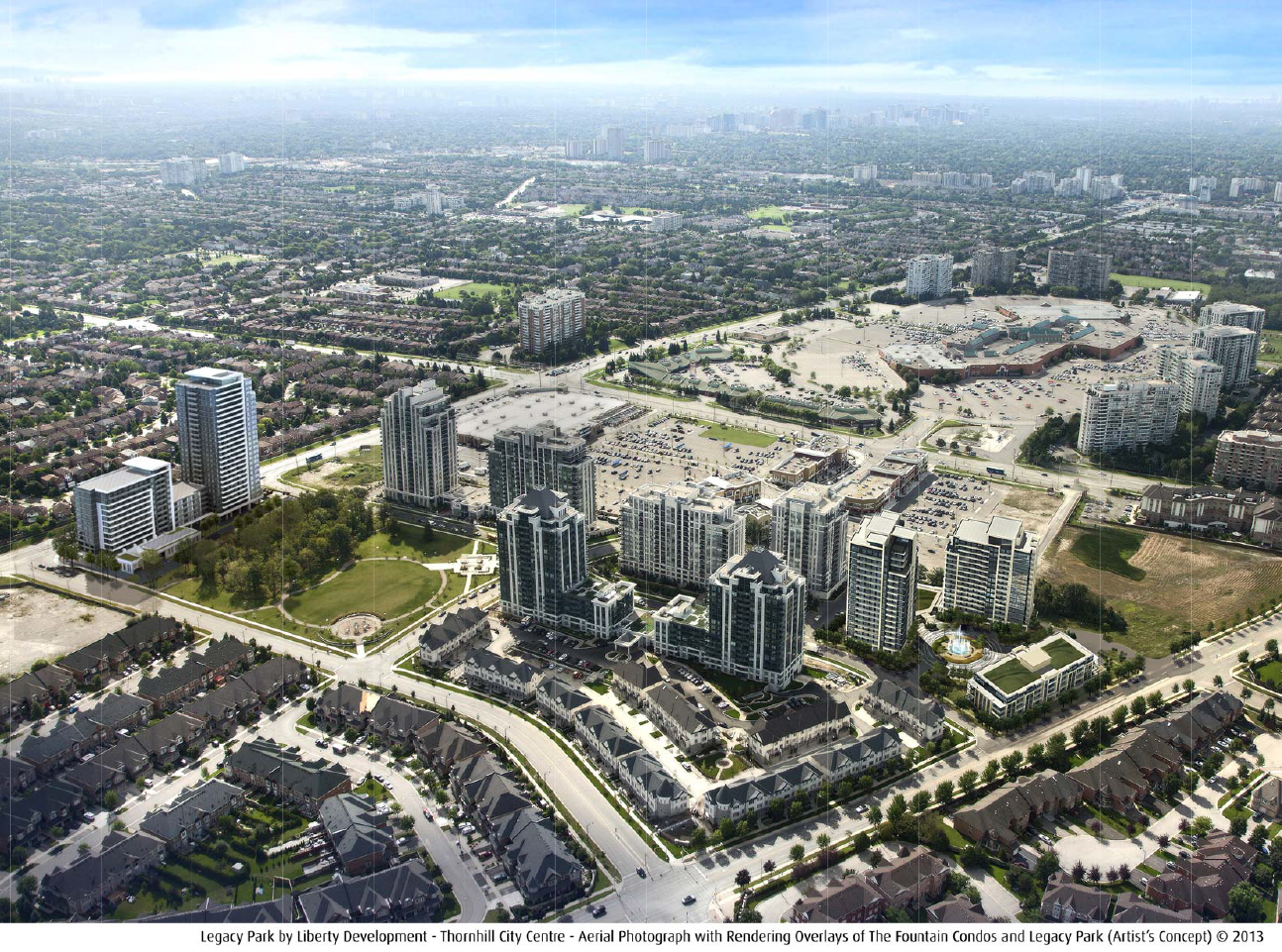 Legacy Park Condos Aerial View Toronto, Canada