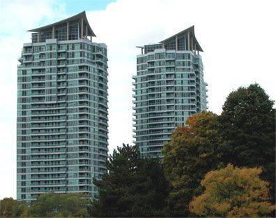 The City One Condos Building View Toronto, Canada