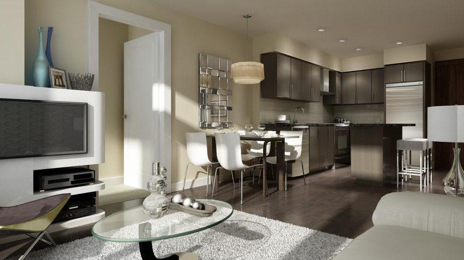 Vivid Condos Living Area Toronto, Canada
