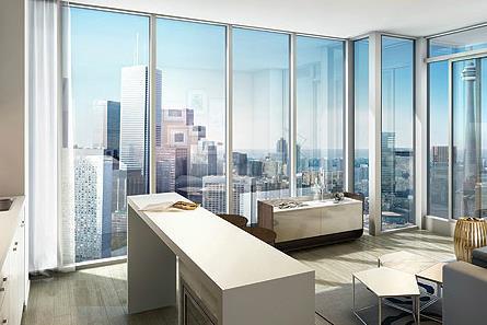 RCMI Condos Living Area Toronto, Canada
