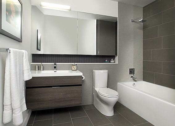 Abacus Lofts Condos Bathroom Toronto, Canada