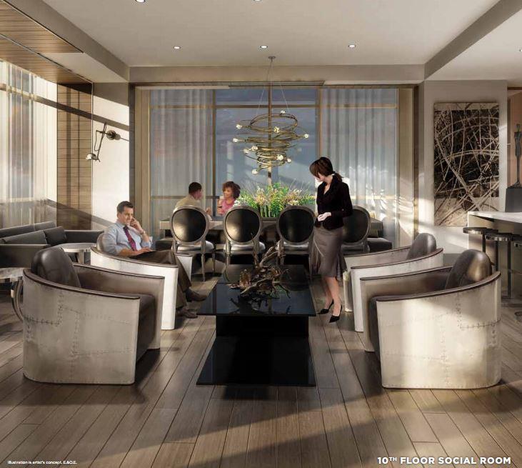 HighPark Residences Condos Meeting Area Toronto, Canada