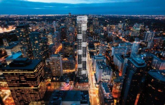 YC Condos Aerial View Toronto, Canada