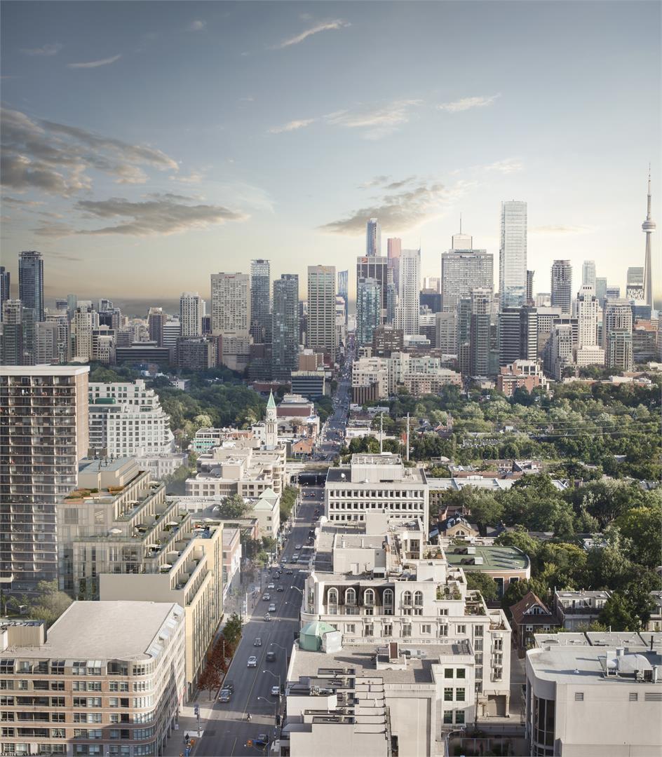 The Jack Condos Aerial View Toronto, Canada