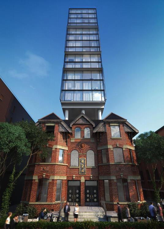 Wellington House Condos Entrance Toronto, Canada