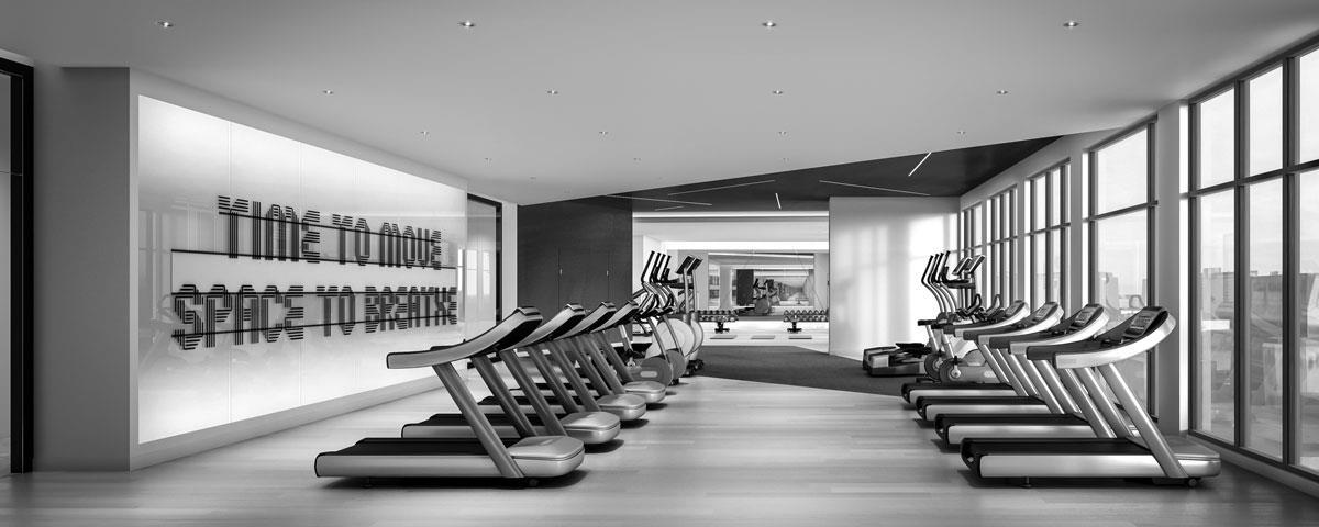 Time and Space Condos Gym Toronto, Canada