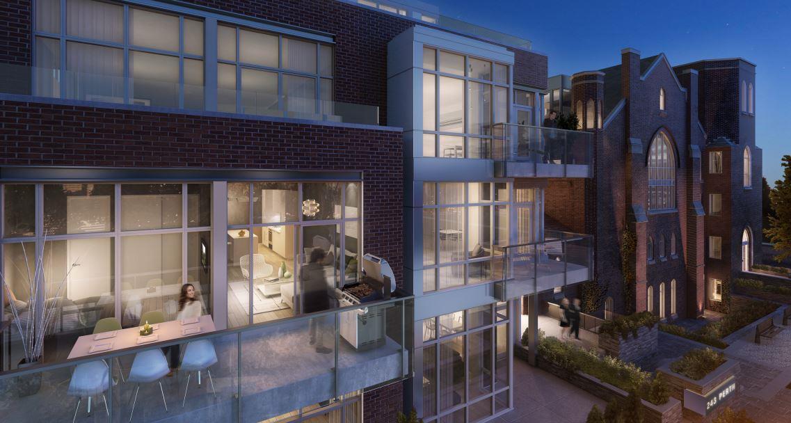 Arch Lofts Condos Balcony View Toronto, Canada