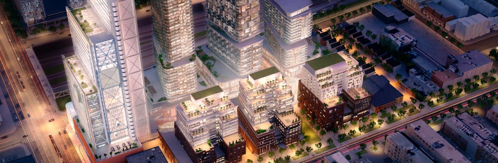 The Well Condos Aerial View Toronto, Canada