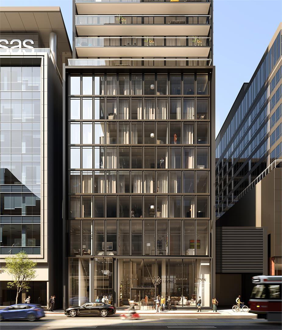 Bauhaus Condos Front View Toronto, Canada