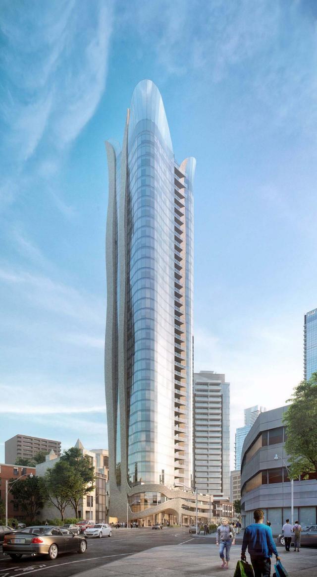 100 Davenport Condos Building View Toronto, Canada