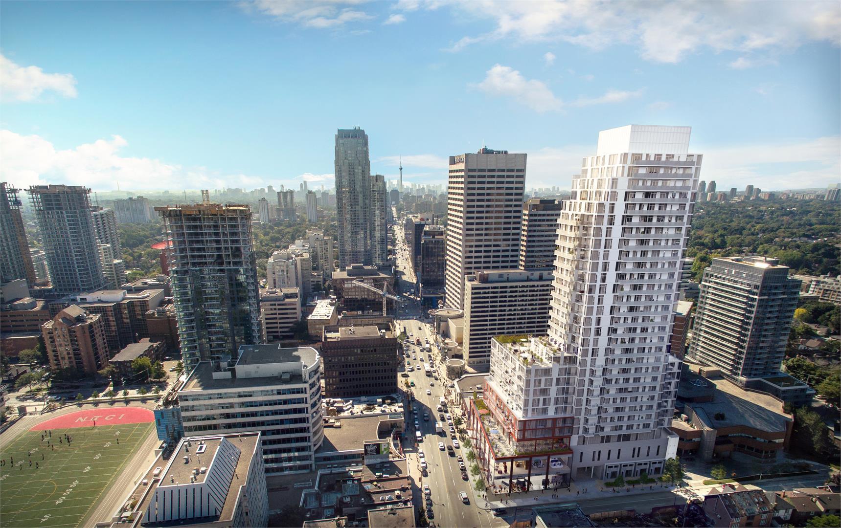 Whitehaus Condos Aerial View Toronto, Canada