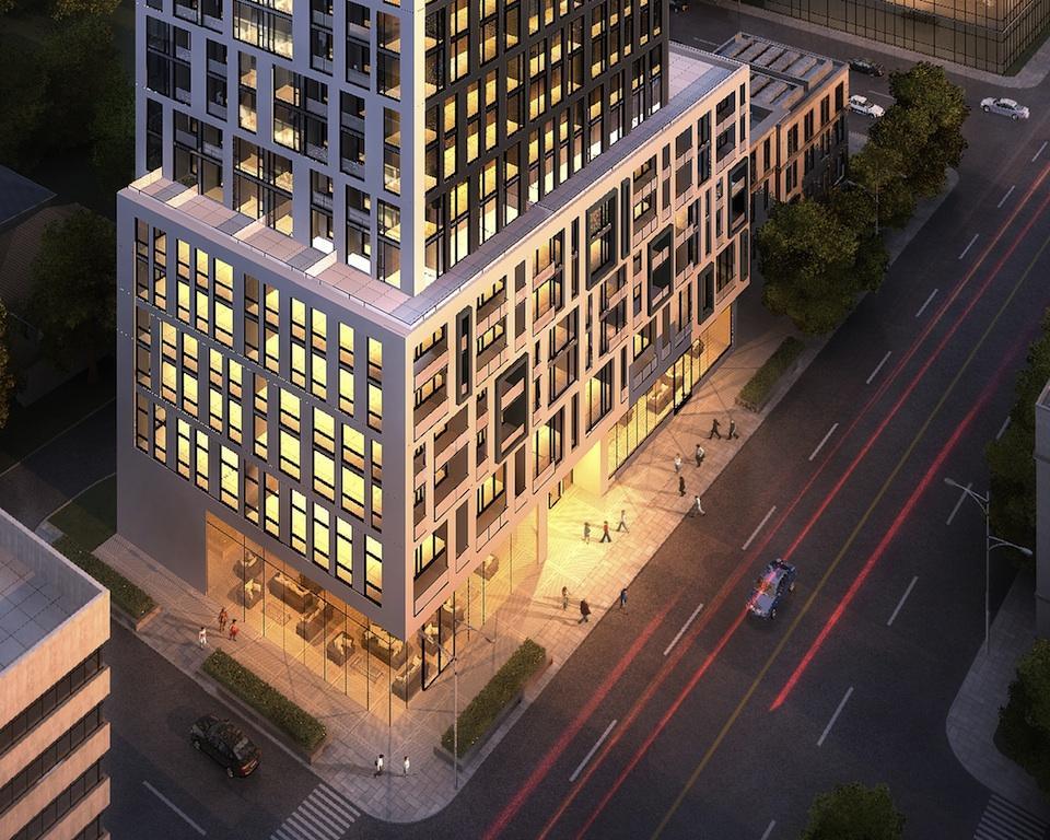 90 Eglinton Condos Downward View Toronto, Canada