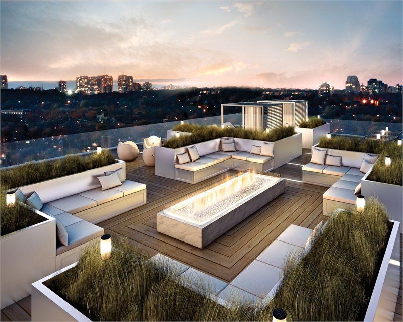 The Yorkville Condos Terrace Lounge Toronto, Canada