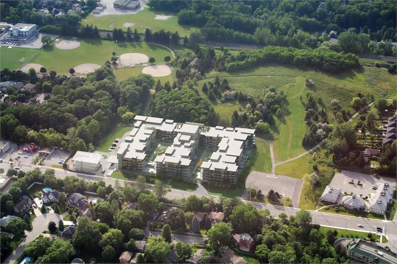 The Craftsman Condos Aerial View Toronto, Canada