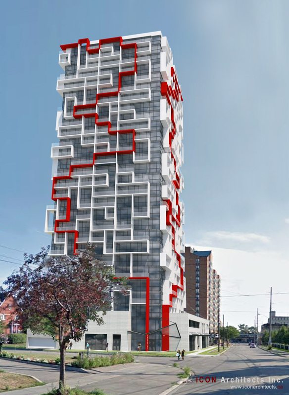 Maze Condos Building View Toronto, Canada