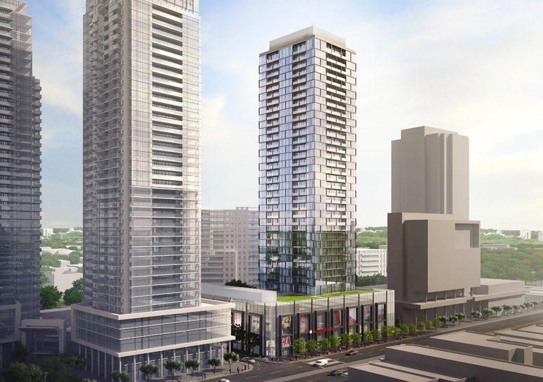Beacon Condos Building View Toronto, Canada