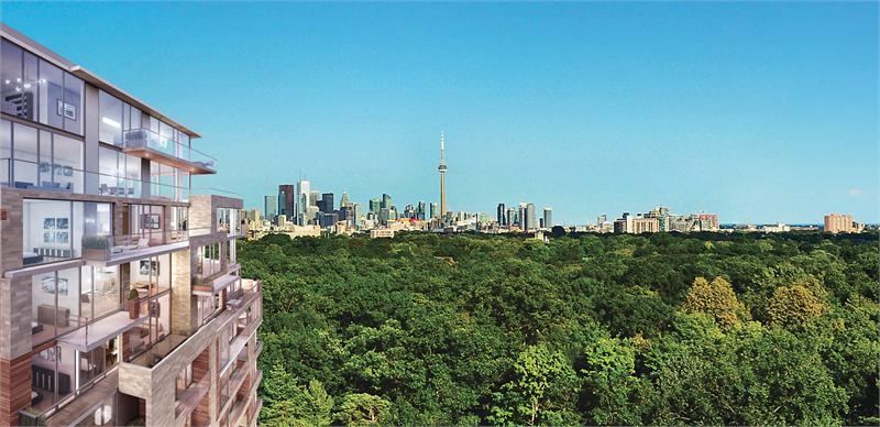 The High Park Condos Outside View Toronto, Canada