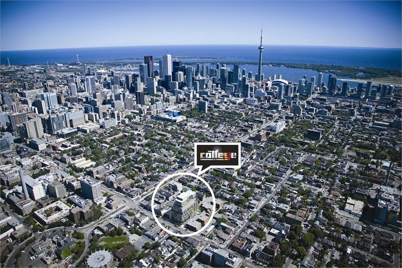 The College Condos Aerial View Toronto, Canada