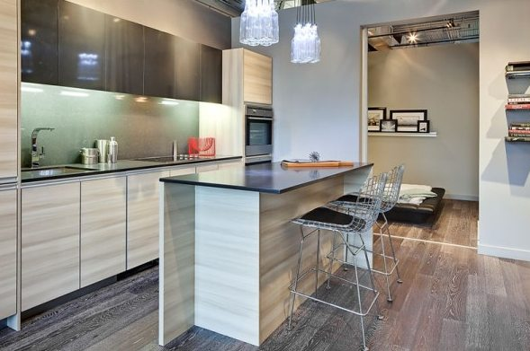 The Carlaw Condos Kitchen Toronto, Canada