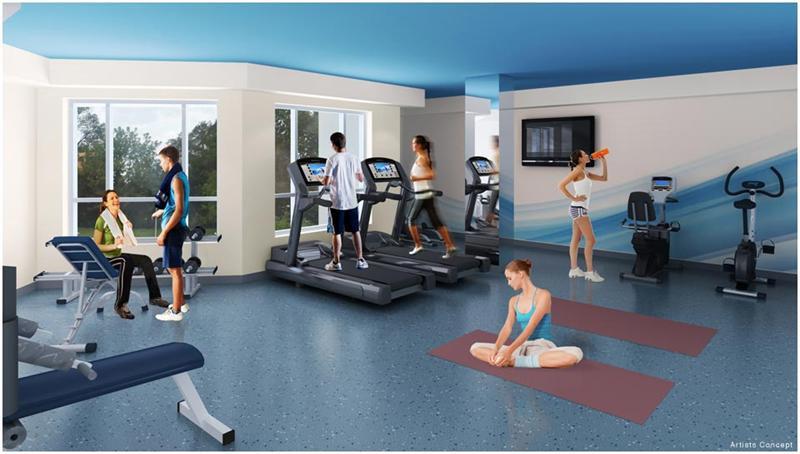AtWater Condos Yoga & Gym Toronto, Canada