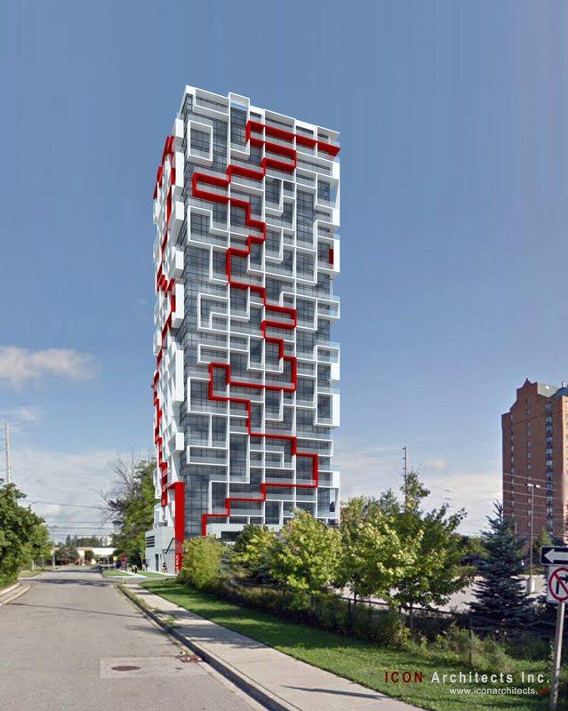 Maze Condos Street View Toronto, Canada