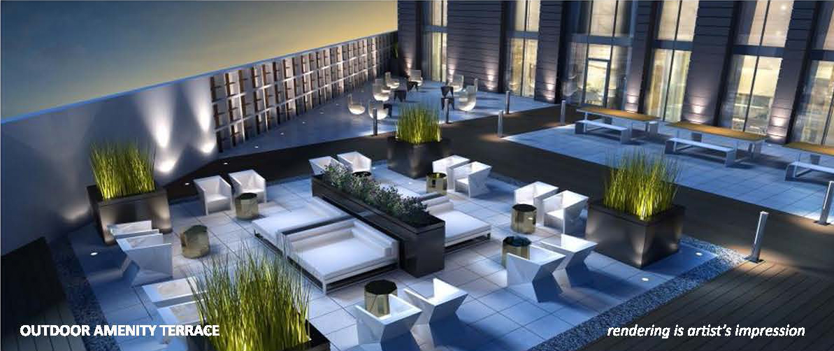 Carnaby ROW Condos Terrace Lounge Toronto, Canada
