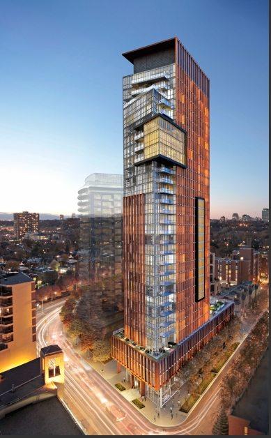 The Yorkville Condos Building View Toronto, Canada