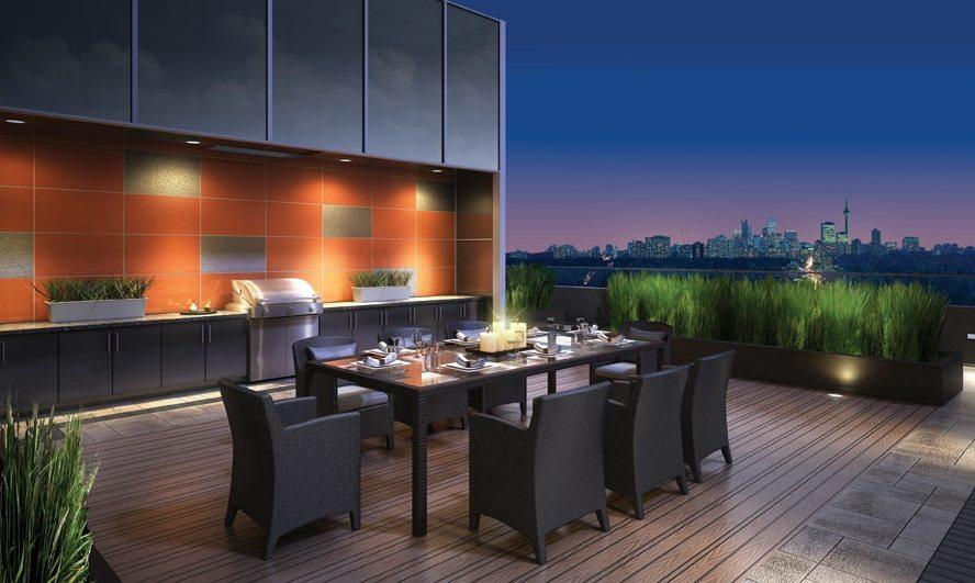 Neon Condos Terrace Dinning Toronto, Canada
