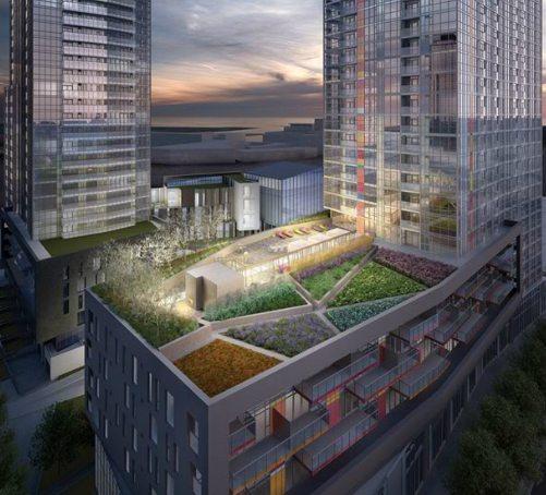 Spectra Condos Rooftop Area Toronto, Canada