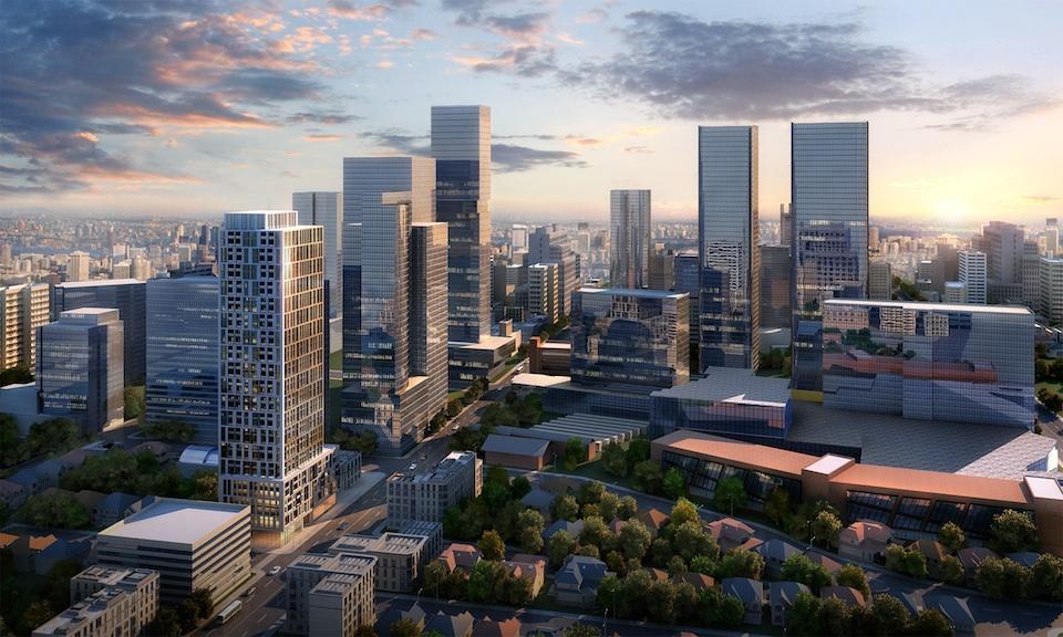 90 Eglinton Condos Aerial View Toronto, Canada