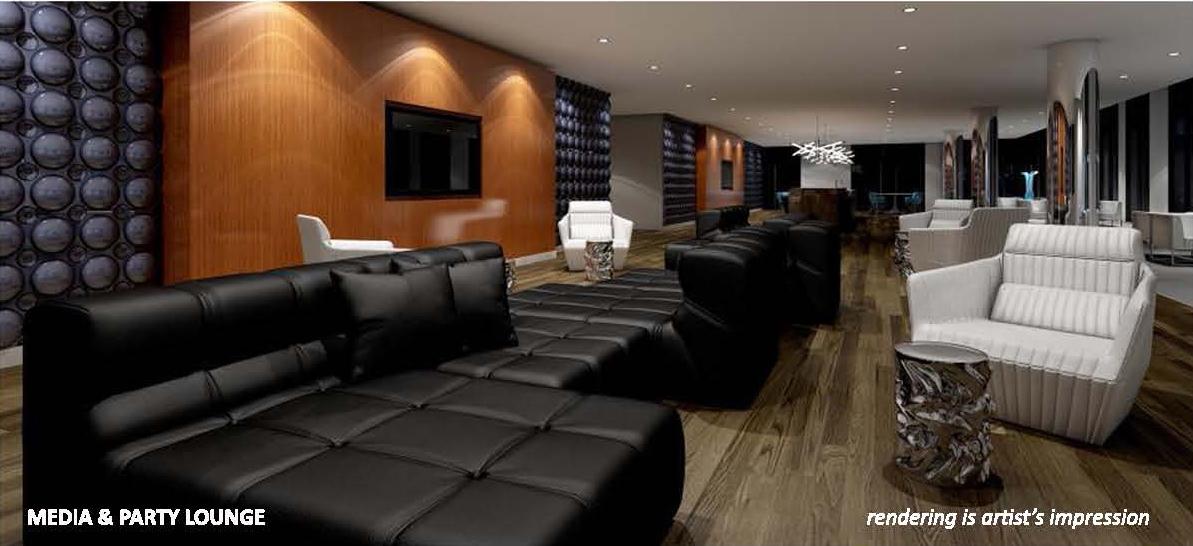 Carnaby ROW Condos Party Lounge Toronto, Canada