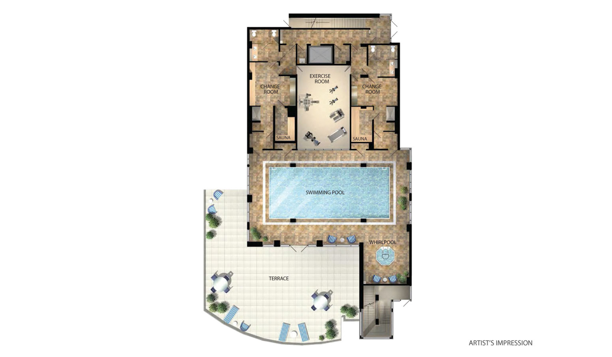 Grande Mirage Condos Amenities Plan Toronto, Canada