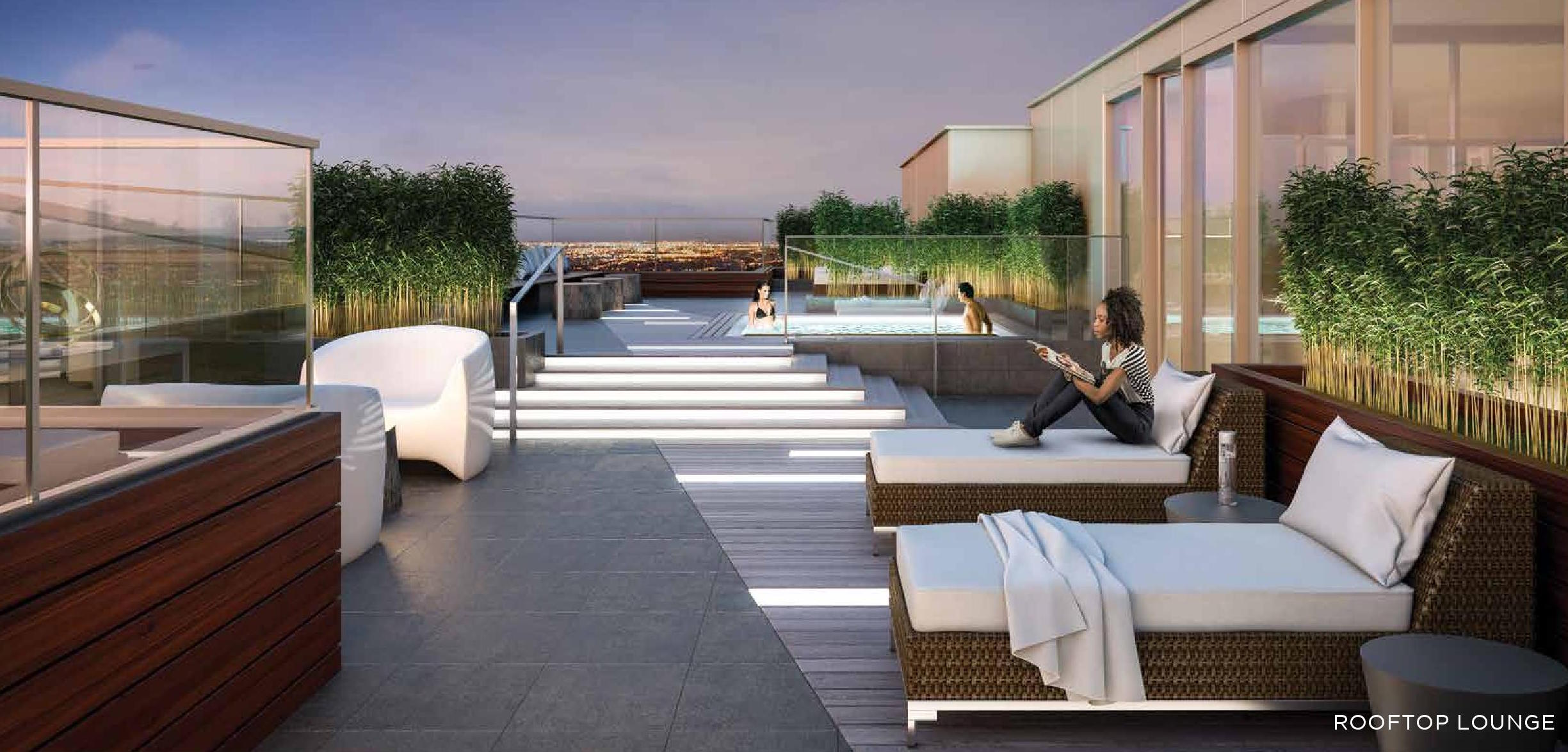 Tea Garden Condos Terrace Pool Toronto, Canada