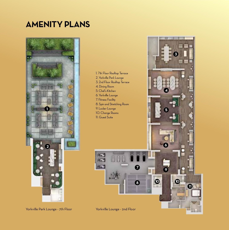 Minto Yorkville Park Condos Amenities Plan Toronto, Canada