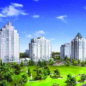 Rendering of Centre Park Condos - 3 towers