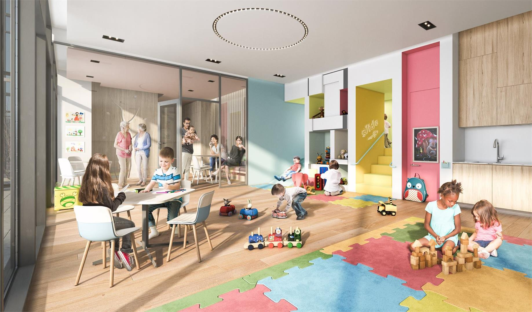 Daniels City Centre Condos Children Play Area Toronto, Canada