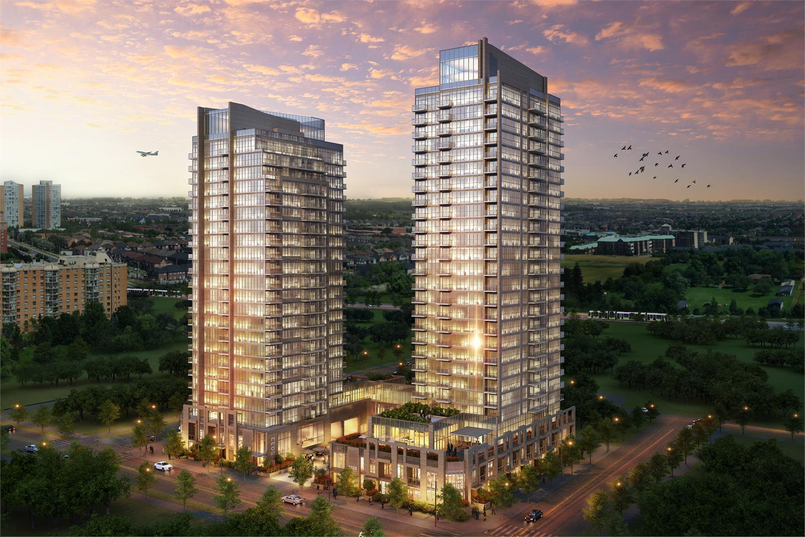 Amber Condos Building View Toronto, Canada