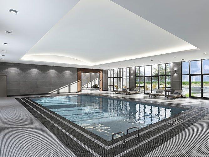 Bloorvista Condos Swimming Pool Toronto, Canada