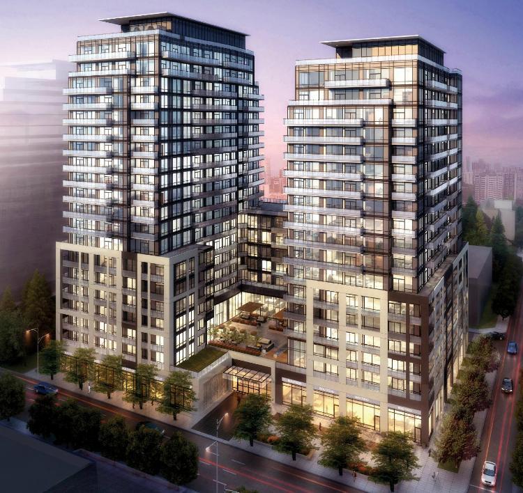 Axiom Condos Building View Toronto, Canada