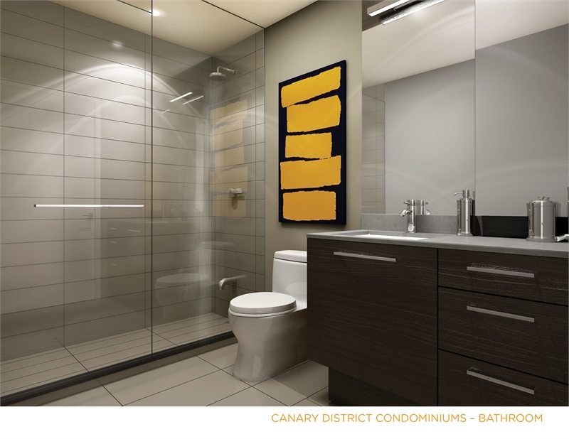 Canary District Condos Bathroom Toronto, Canada