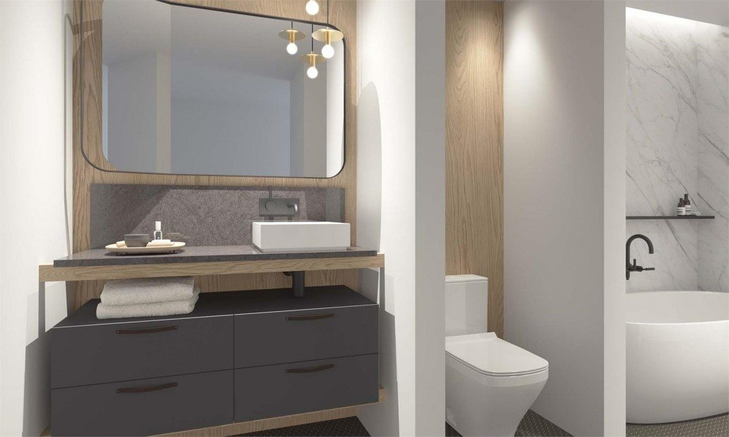 Cabin Condos Bathroom Toronto, Canada