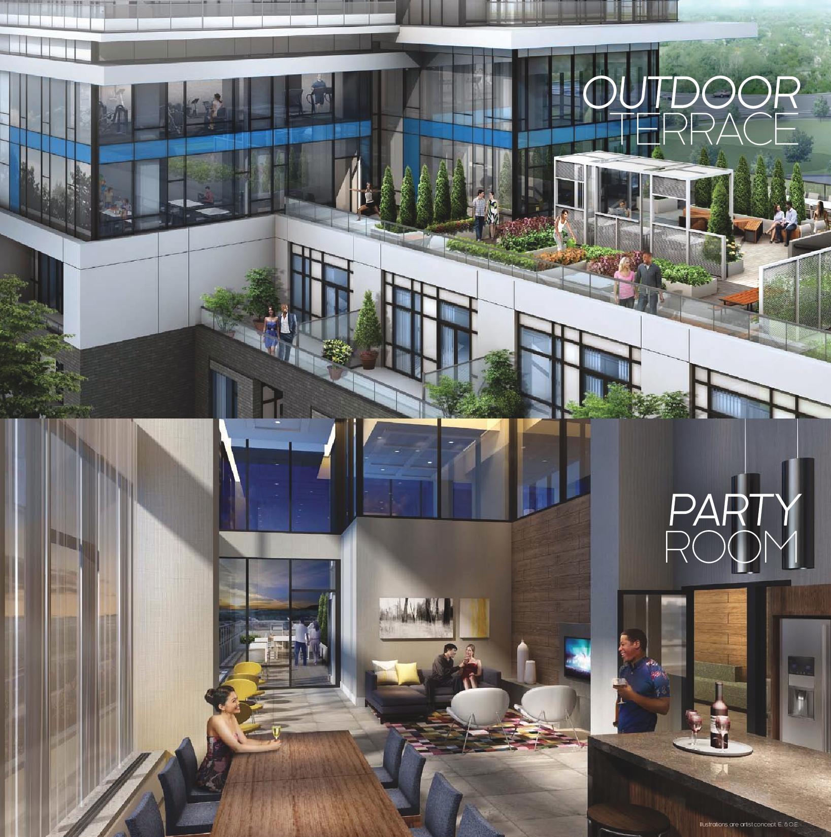 Daniels Erin Mills Condos Terrace & Party Room Toronto, Canada